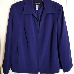 Sag Harbor Purple-Blue Zip Blazer 16W